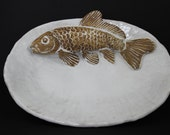 Ceramic Fish Platter by Shayne Greco beautiful Mediterranean glazed pottery.
