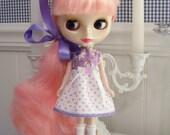 Darling lavender Dress for BLYTHE.....So Sweet...Vintage Fabric