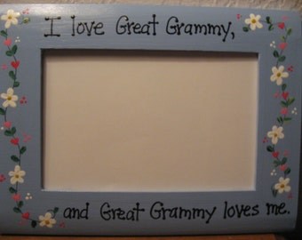 i love great grammy great grandma photo picture frame