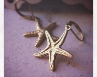 Sea Star Brass earrings starfish