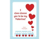 Train Valentine Cards - Train Valentines