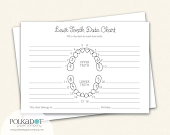 Lost Tooth Record Keepsake Chart