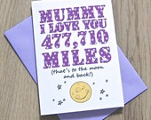 Love You To Moon and Back Card – Personalised Anniversary Card – Card for Husband – birthday card for husband wife – Christmas card - geeky