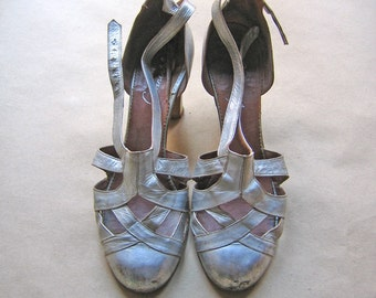 Vintage Silver Shoes 1920's-1930's