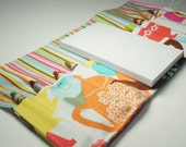 Handmade Crayon Wallet - High Tea in Multi - tea party.art wallet.party favor.ready to ship - Crayons and Pad NOT INCLUDED