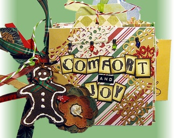 Christmas Mini Album, Family Holiday Album, Vintage Christmas Album, Chirstmas Scrapbook, Mini Christmas Album, Christmas Gift, Photo Book