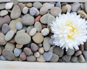 Guest Book Stones  , wedding Wishing Rocks ,Reception Decor , Smooth stone for signing