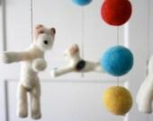 Baby Mobile, Wire Fox Terrier Mobile, Unique Nursery Decor, Mobile, Modern Nursery, Bright Colors