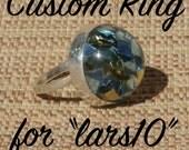 Confetti Lucite and Silver Ring