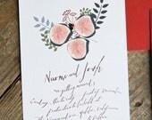 Havest Figs- Printable Wedding Invitation