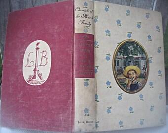 Vintage Alcott book, Little Men/Jo's Boys, classic Alcott book Louisa M. Alcott book, child's gift book, Elinore Blaisdell, collectible book