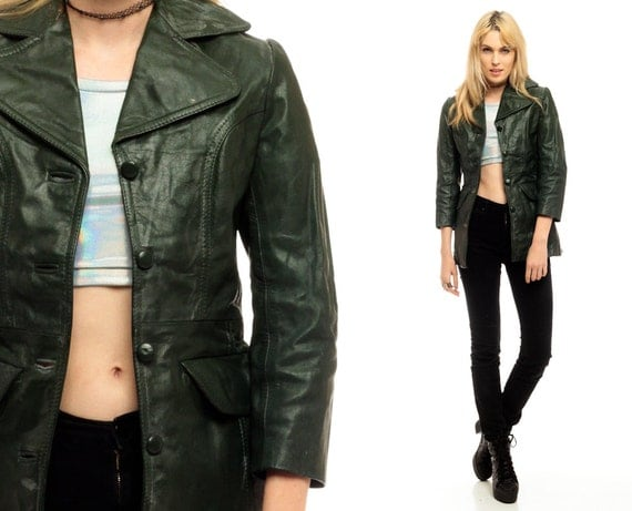 Green Leather Jackets For Women | Outdoor Jacket