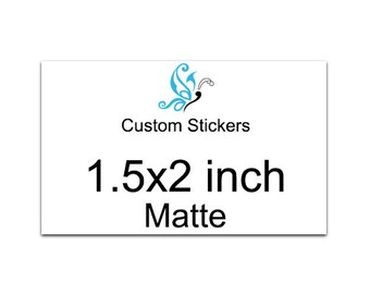 140 Custom stickers 1.5x2 inch product labels - laser printed