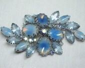 Stunning Vintage Spray of Blue Brooch