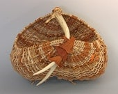 Antler Basket with Dried Philodendron - Item 670 by Susan Ashley