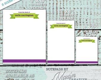 Teacher Notepad / Teacher Personalized Stationery / Personalized Stationery / Teacher Personalized Gift / Christmas Gift / Teacher Notepad
