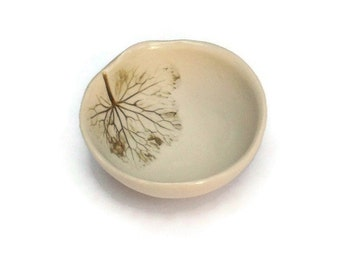 Mothers Day Gift for Wife - Earring Bowl - Porcelain Decorative Bowl -  gifts for coworkers - Nature Home Decor - Scandinavian Decor -