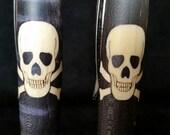 Laser cut skull and cross bone pen