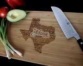 Any State (Texas Shown) Personalized Cutting Board