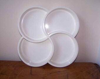 Dansk, Gunnar Cyren, White Plastic Tray, Four Section, Mid Century Modern, Scandinavian,