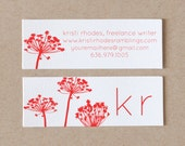 Personalized Business Cards / Calling Cards / Mommy Cards - BRIGHT BOTANICAL