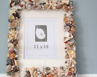 Attractive Seashell Wall Frame, Beach Decor Shell Wall Frame, Nautical Decor Seashell  Frame, Shell
