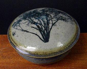 Jewelry, Trinket, Stash, Treasure Jar ~ Classic Tree Design ~