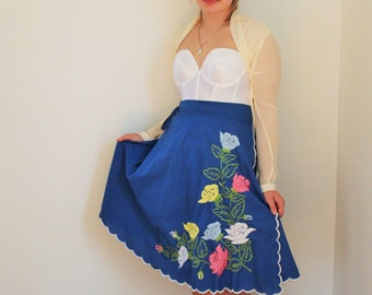 Royal Blue Hawaiiaan Wrap Skirt