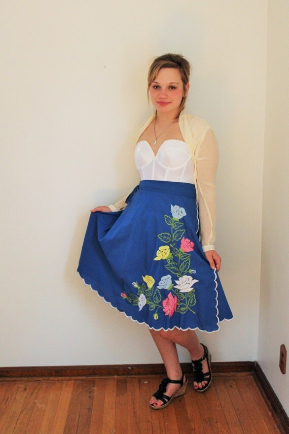 royal blue hawaiiaan wrap skirt