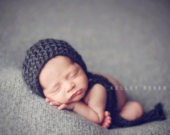 Newborn Girl Prop Bonnet Photo Baby Hat Boy Organic Hood Going Home Infant Cap Photography Spring Prop Pixie Coming Home Outfit Knit Wool