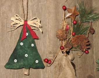 Primitive Christmas Tree Ornament, Country Christmas, Christmas Decor
