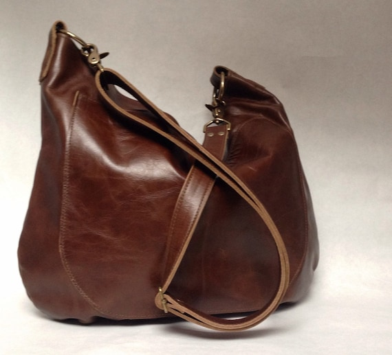 UMA Leather Bag Leather Hobo Bag Slouchy Leather by margeandrudy