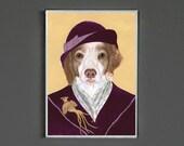 Art Print - Brittany Dog - Signed by Artist - 8x10 // 16x20 // 22x28