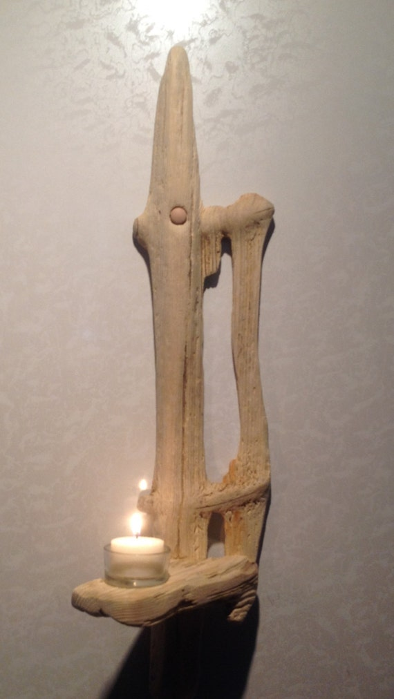 Driftwood Candle Wall Sconces : Driftwood Sconce Candle holder Art Crafts Sculpture