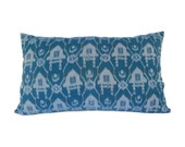 14x24, Ikat Pillow, Cushion, Ethnic, Bohemian, Cotton, Graphic, Global Decor, Indonesian Textiles