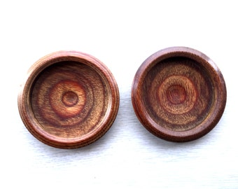 Japanese Door Pulls - Sliding Door Pulls - Pocket Door Pulls - Japanese Vintage Door Pulls Brown Wood DP5-24