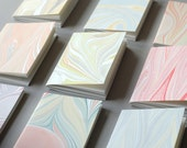 Set of Three Marbled Softcover Booklets