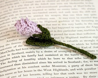 Flower Corsage Crochet Lilac Rose (large)