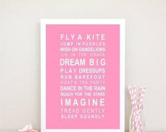 Dreams for your little girl print