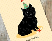 Happy Birthday Cairn Terrier Card