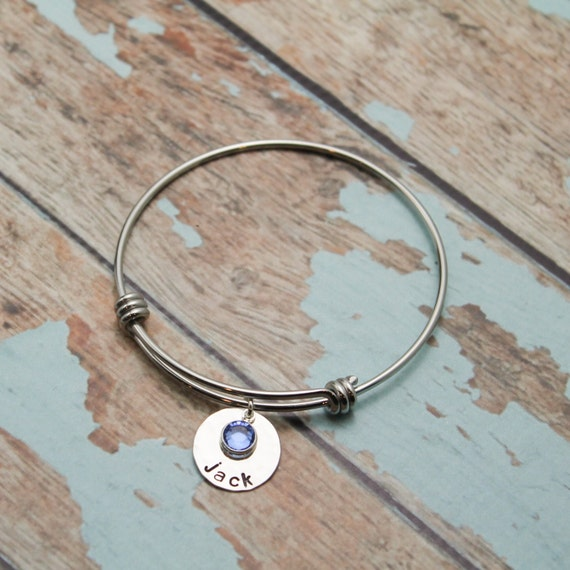 personalized adjustable bangle sted bracelet