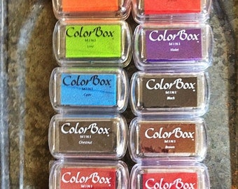 ColorBox Pigment Ink Pads Mini Size Many Colors Your Choice  Chestnut Black Cranberry