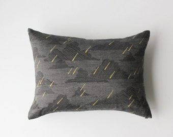 Linen Pillow Cover - Rectangle Dark Rainy Day