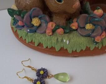 Delicate Daisy Drop Earrings