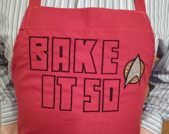 Apron - Star Trek Inspired - Bake It So