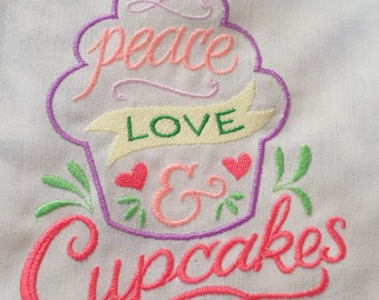 Apron - Peace, Love, & Cupcakes