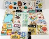 ScrapBooking Destash Lot, Stickers, 3 D Die Cuts, Vacation, Beach, Travel