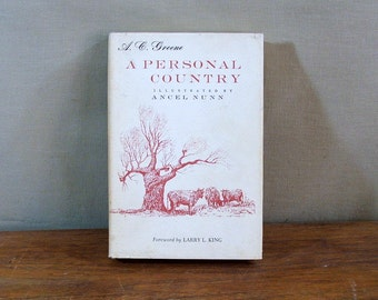 Vintage Book, A Personal Country By A.C. Green, Signed