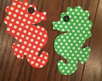 Set of Seahorses Iron On Applique, You Choose Fabric