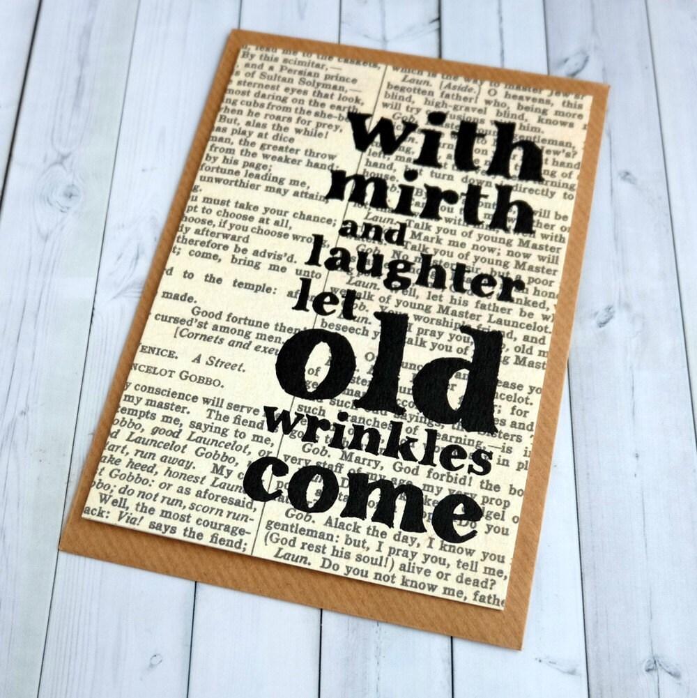 William Shakespeare Birthday Quotes: SALE Shakespeare Birthday Card Birthday Card Best Friend